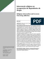 Intervenção religiosa na recuperação de dependentes de drogas