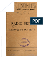 TM 11-605 SCR-509 and SCR-510 1943