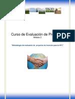 Metodologia de Evaluacion de Proyectos de Inversión Para La Afc Modulo 2