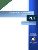 2009 Audit--PeopleSoft IT Controls 12-17-09