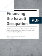 Israeli Banks are Principal Beneficiaries of the Illegal Settlements - Who Profits Report