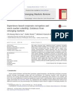 Experience-based corporate corruption and stock market volatility