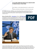 Flavio Cattaneo AD Terna Ok Alla Vendita Del Solare Per Un Valore Tra 620 e 670 Milioni Di Euro a Terra Firma
