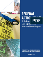 Federal Plan on Lead Exposure