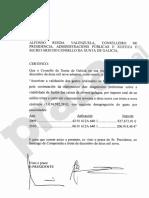 Certificado da autorización do pagamento do informe sobre a fusión das caixas galegas