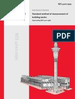 NZS 4202 1986 Standard Method of Measurement Building Works New Zealand