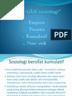 Sifat-Sifat sosiologi