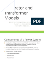 3. Generator and Transformer Models