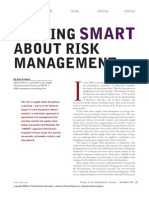 Getting Smart About Risk Mgt