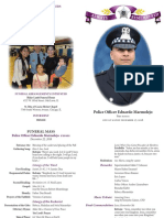 Program of services for fallen Chicago police Officer Eduardo Marmolejo