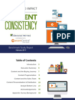 The State and Impact of Content Consistency Benchmark Report