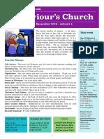 st saviours newsletter - 23 december 2018