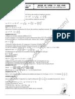 Série d'Exercices - Math - Nombres Complexes - Bac Info