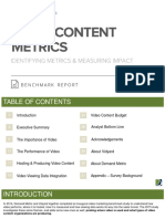 Video Content Metrics Benchmark Report