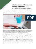 Toner e Cartucce Online Per Ufficio L'E-commerce Prink Consegna a Roma in 2h