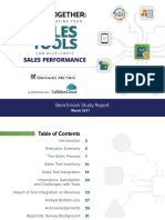 Sales Tools and Performance Benchmark Report
