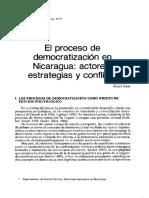 El Proceso de Democratización en Nicaragua