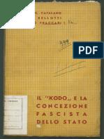 Il Kodo e La Concezione Fascista Dello Stato