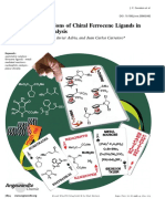 Gómez Arrayás, R. Recent Applications of Chiral Ferrocene Ligands in Asymmetric CatalysisReview 2006
