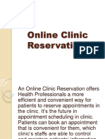 Online Clinic Reservation