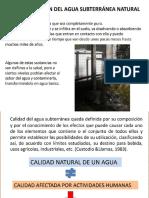 Calidad de Aguas Subterraneas
