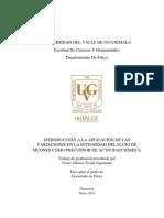 BREVE INTRODUCCIÓN  A  LA APLICACIÓN DE  LAS VARIACIONES  EN LA  INTENSIDAD DEL  FLUJO  DE MUONES  COMO PRECURSOR DE  ACTIVIDAD  SÍSMICA EN GUATEMALA
