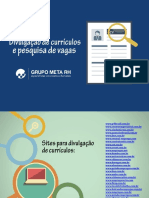 Divulgação de Currículo e Pesquisa de Vagas 2018
