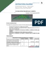 Estructura Metálica y Cubierta