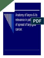 Anatomy of larynx