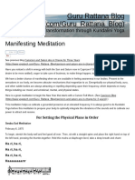 Manifesting Meditation to Set the Physical Plane in Order