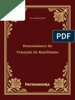Descendance de François de Bouillanne