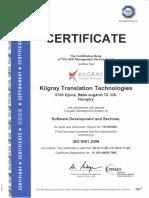 ISO Certificate Kilgray