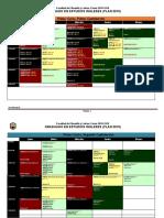 Horario Estudios Ingleses UCO 2018/2019