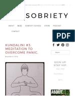 Kundalini #3. Meditation to Overcome Panic