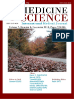 Medicine Science I International Medical Journal;  E- Journal of Volume 7, Issue 4