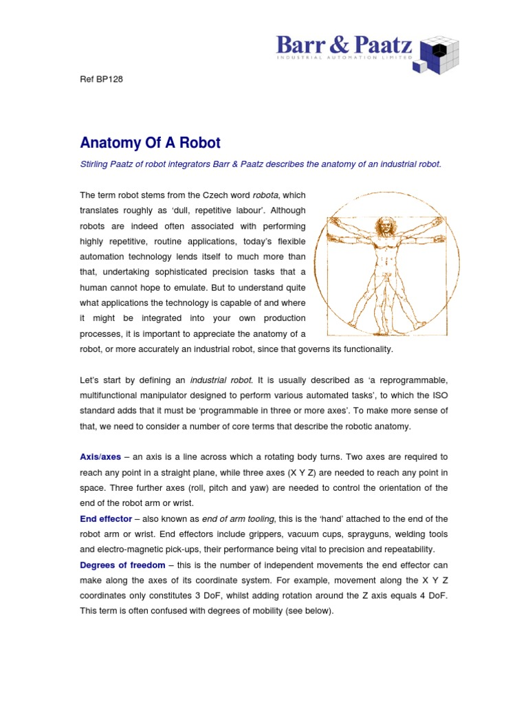 Anatomy of a Robot | Robot | Technology