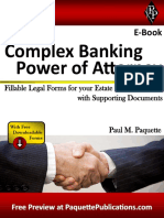 Complex Banking Power of Attorney