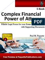 Complex Financial Power of Attorney