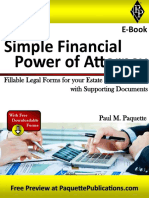Simple Financial Power of Attorney