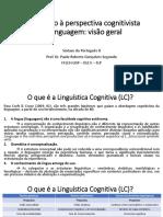 Introdução à perspectiva cognitivista da linguagem - 2016