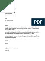 Anne's Resignation Letter
