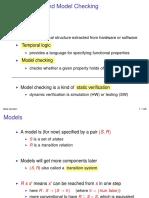 Slides Temporal Logic and Model Checking