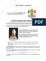 Papal Claims to Authority (Biblelight.net)