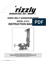 Grizzly G1015 Instruction Manual