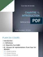 Chapitre 1 Introduction BD