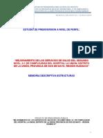 5.1. Memorias Descriptivas de Estructuras. hospital la unión