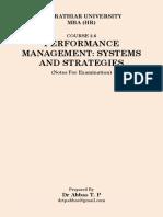 Performance Management ExamNotes