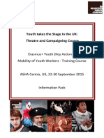 Youth Takes the Stage Uk September 2015 Infopack
