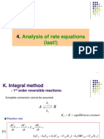 Week 4. Analysis of Rate Equations (Last!)-1