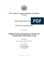 Optimal Energy Management System For Renewable Based Micro Grid